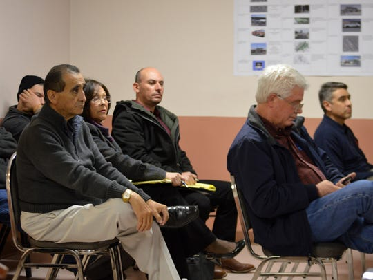 Sunland Park residents listen to a session on different forms of city government during a Jan. 4 meeting to encourage more civic participation in Sunland Park.