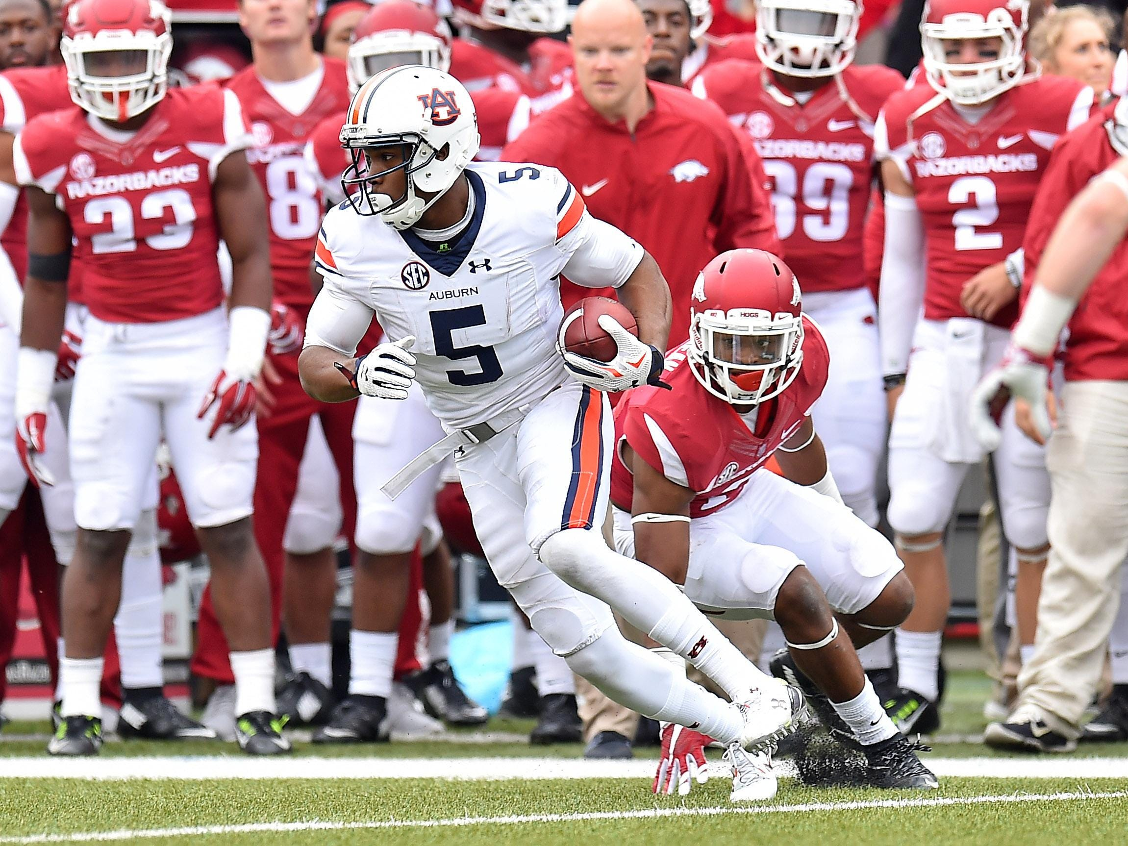Aubun wide receiver Ricardo Louis and the Tigers try to bounce back from a tough loss against Arkansas.