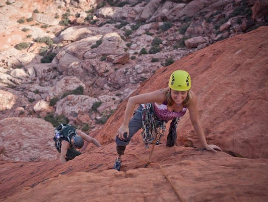 Chris Prange-Morgan climbs Red Rock Canyon in Nevada