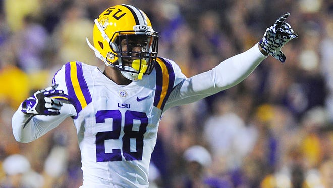 FILE -- LSU defensive back Jalen Mills, who was indefinitely suspended in June after being arrested on a charge of felony second degree battery, is expected to have that charge reduced to misdemeanor simple battery today.