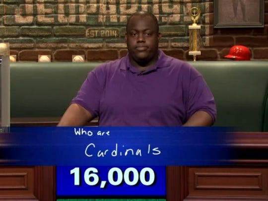 """Earl Holland finished with 16,000 points to win his first episode of """"Sports Jeopardy!"""""""