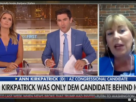 fox news mistakes Barbara L'Italien for arizona rep. ann kirkpatrick