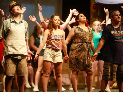 """""""In The Heights"""" on stage at Fort Defiance Feb. 17-19."""