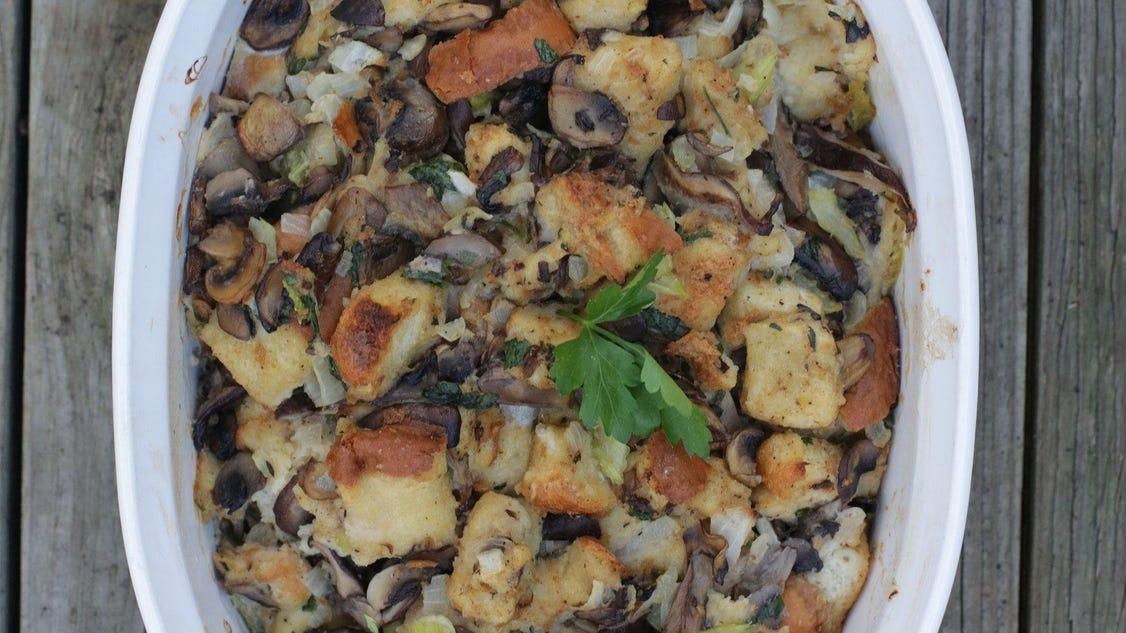 Thanksgiving recipe: Triple Mushroom Stuffing