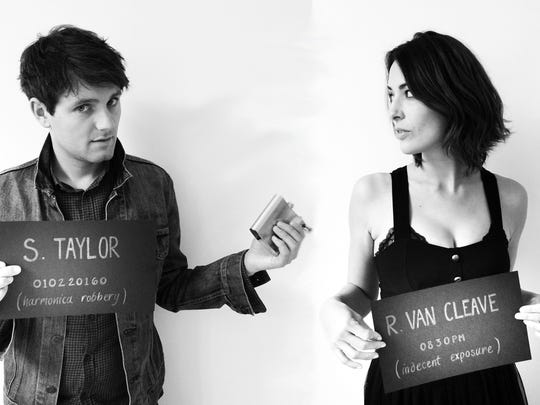 Samuel Taylor and Rebecca Van Cleave pose as The Transatlantic Bandits, performing live at The Pompei Lounge Jan. 2.