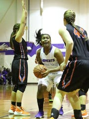 Haywood's Tamia Tharpe is a senior that has helped lead the Lady Tomcats to the state tournament for the first time in 21 years.