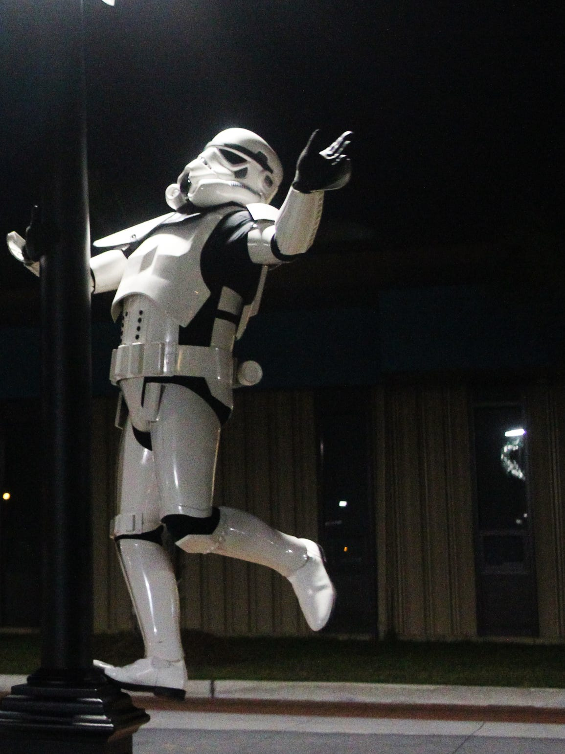 Paul Cassidy, a member of the 501st Legion, poses in
