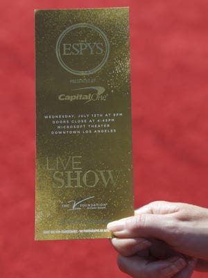 The 2016 ESPY Awards ticket on the red carpet at Microsoft Theater.