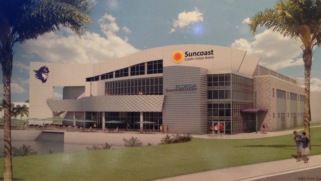 An artistic rendering of the planned $20 million multi-use arena at Florida SouthWestern College