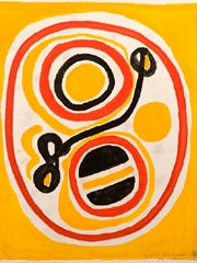 "This 1966 Beauford Delaney work, ""Yellow, Red, and"