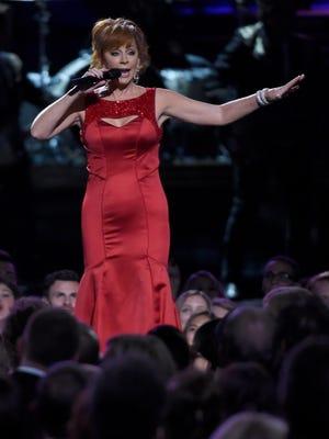 Reba McEntire performs at the CMA Awards  on Nov. 2, 2016, in Nashville.