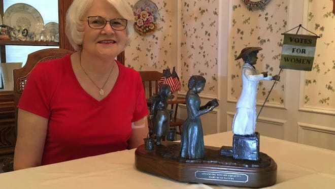Mary Waters, member of the National Society of the Daughters of the American Revolution, received first place in the sculpture category in the American Heritage competition at the 129th Continental Congress in Washington, D.C.