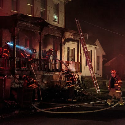 Chillicothe firefighters work to douse hot spots from