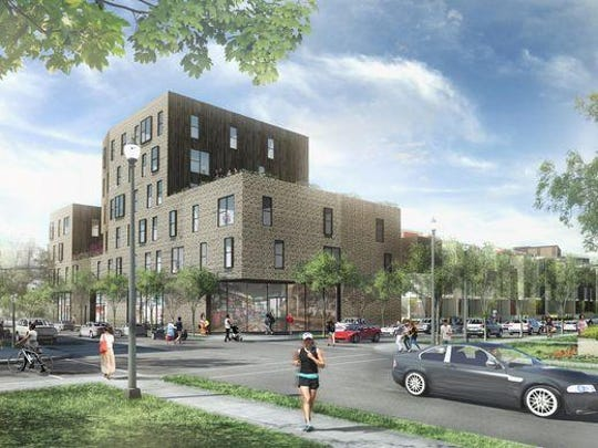 The Victorian roots of Detroit's Brush Park neighborhood will be getting a modern update when the city's largest residential construction project in more than 30 years is finished.