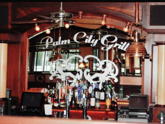 Bar at the Palm City Grill in Martin County.