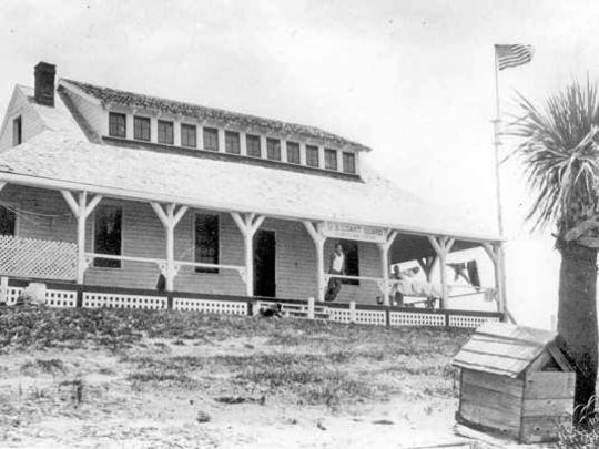 The former Gilbert's House of Refuge became the Coast Guard station in 1920s.