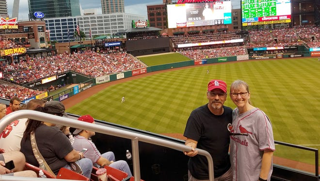 Busch Stadium in St. Louis was Jay and Barb Lovato's favorite during their tour of all 30 Major League Baseball ballparks. Along with a beautiful park and devoted fans, stadium security there went above and beyond to get Jay's lost phone back.