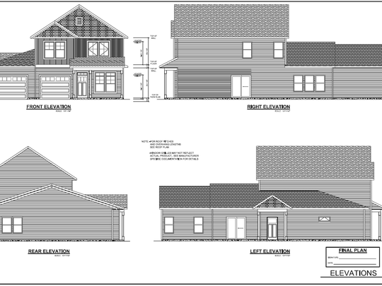 The duplexes proposed for Thomas Street will feature unique construction as to make them look like other homes in the area.