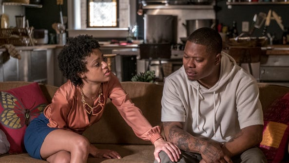 Tiffany Boone as Jerrika and Jason Mitchell as Brandon