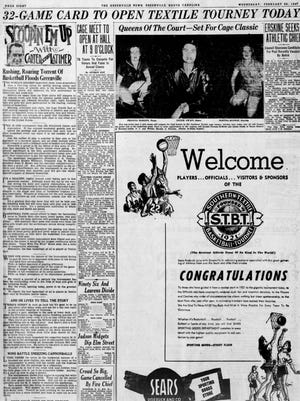 A page in The Greenville News on Feb. 26, 1947.