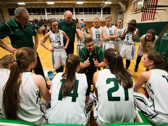Tim Rice has been the head coach of the Rice Memorial High School girls basketball team for the past six seasons.