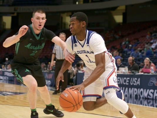 NCAA Basketball: Conference USA Tournament- Marshall vs Lousianna Tech