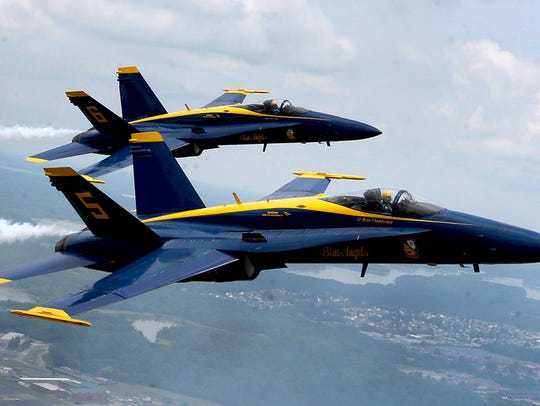 Blue Angels Lt. Ryan Chamberlain and Captain Jeff Kuss
