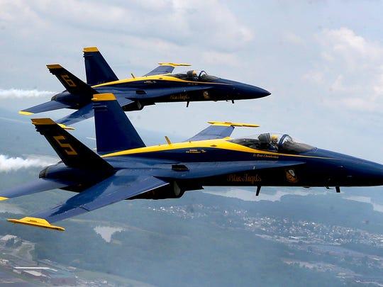 Blue Angels Lt. Ryan Chamberlain and Captain Jeff Kuss