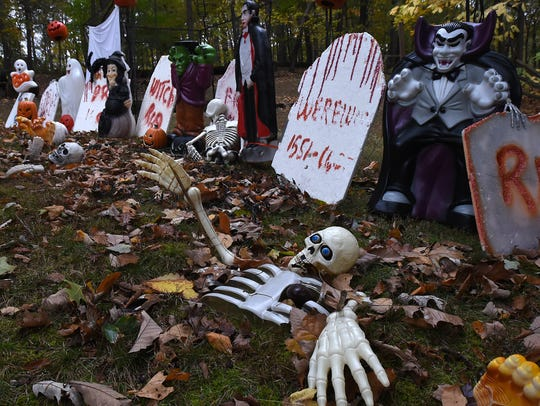 One of many spooky graveyards set up outside of Rod