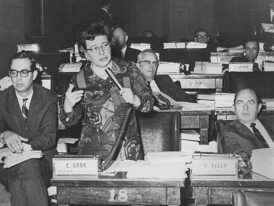 Assemblywoman Connie Cook.