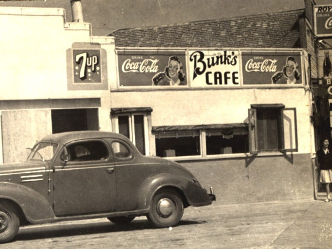 A photo of Bunk's Cafe at 1322 Leopard St. in September