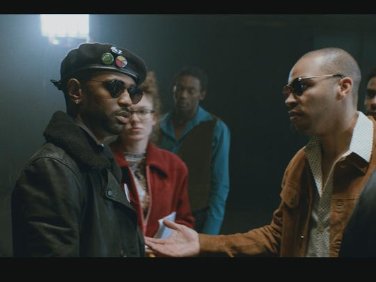 "Rapper Big Sean, left, and filmmaker Lawrence Lamont in ""Out of Love."""
