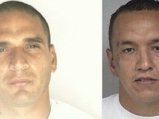 Ricardo Acuna and Ismael Castillo are wanted for suspicion