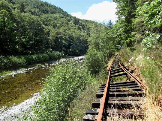 Salmonberry River flooded in 1997 and washed out the