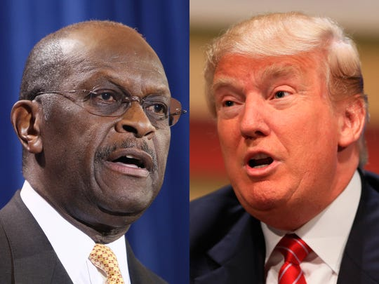 Herman Cain and Donald Trump (AP)