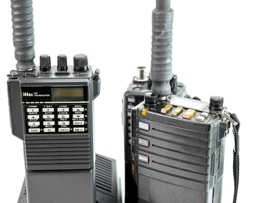 Closeup of portable radio