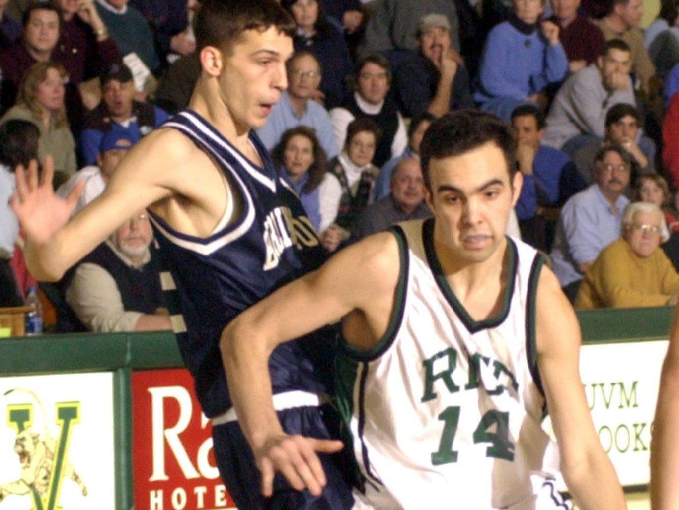 Kyle Cieplicki, seen in action in 2003, is one of nine Rice Memorial High School alums who will be inducted into the school's athletic hall of fame this weekend.
