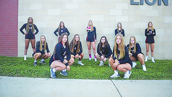 Shown is the Lansing Lady Lions varsity volleyball team.