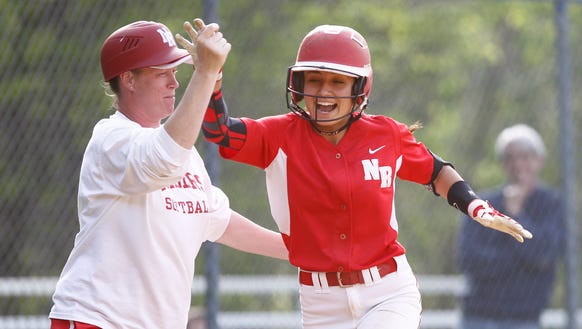 North Rockland's Victoria Alonso (20) rounds the bases