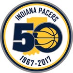 Indiana Pacers 50th anniversary logo