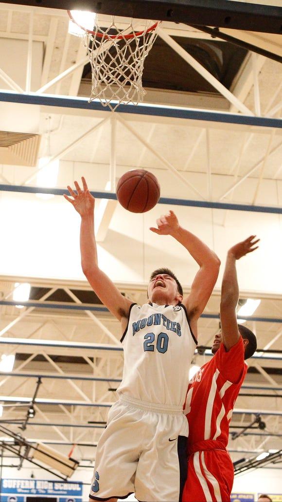 North Rockland boys basketball  defeats Suffern 56-49