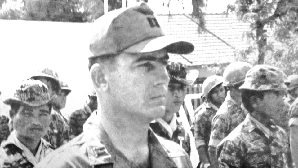 Freddie Ussery is shown during a ceremony when he received