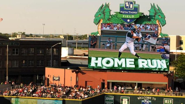 The Dragons' new video board will be five times larger than the old board.
