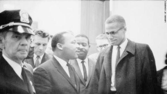 Martin Luther King Jr. and Malcolm X met one time,