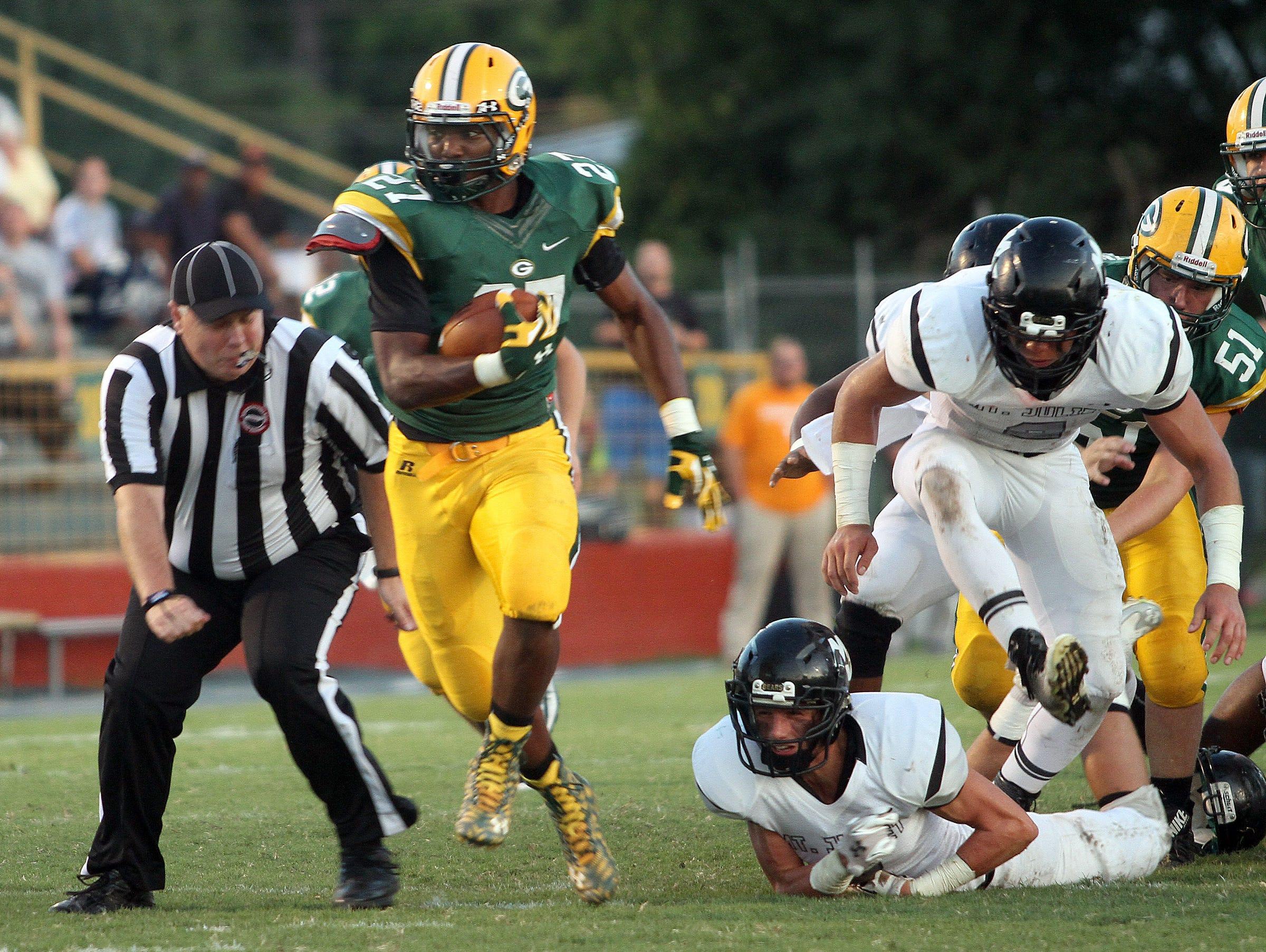 Gallatin running back Jordan Mason.