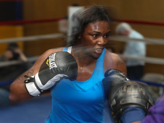 Claressa Shields trains for her upcomming fight against