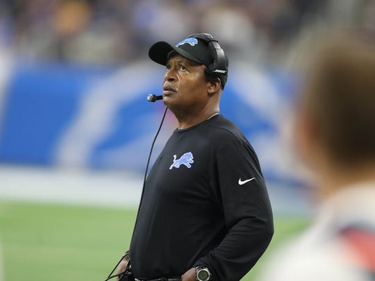 Detroit Lions head coach Jim Caldwell on the sidelines