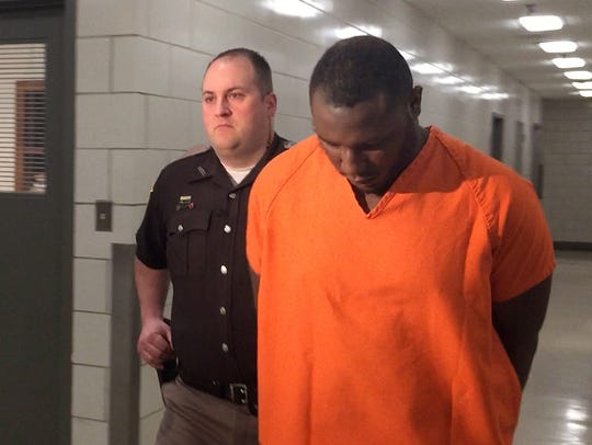 Darrin Banks, 27, one of two suspects accused of murder