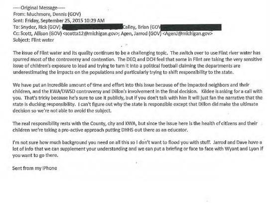 Page 71 of Gov. Rick Snyder's Flint e-mails.