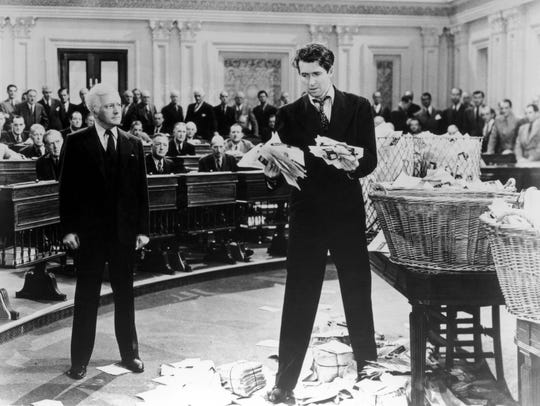 James Stewart holds the floor in 'Mr. Smith Goes to
